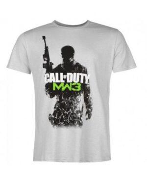 Мъжка тениска Call Of Duty сива/памучна